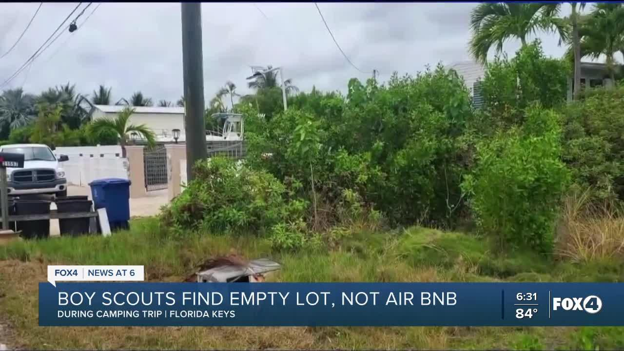 Boy Scouts find empty lot after renting property online