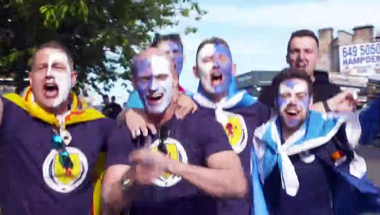 Scotland fans arrive at Hampden Park for Croatia match