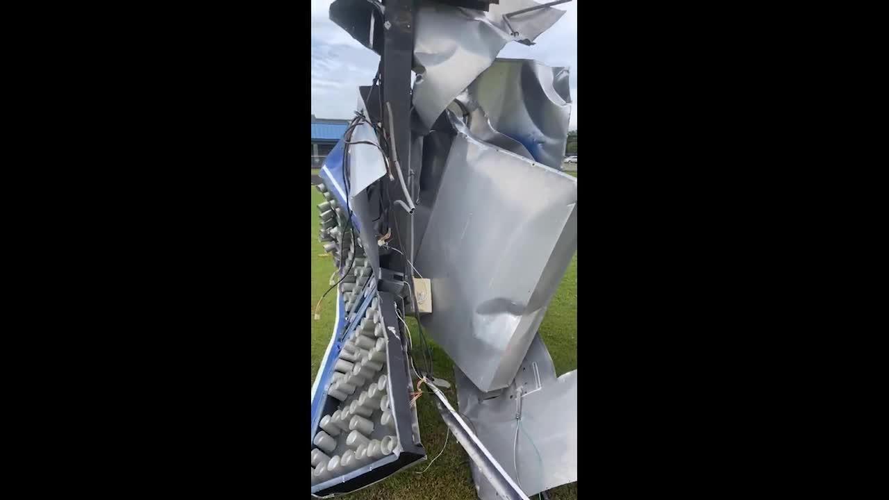 Tornado destroys high school scoreboard in Alabama as Tropical Storm Claudette wreaks havoc