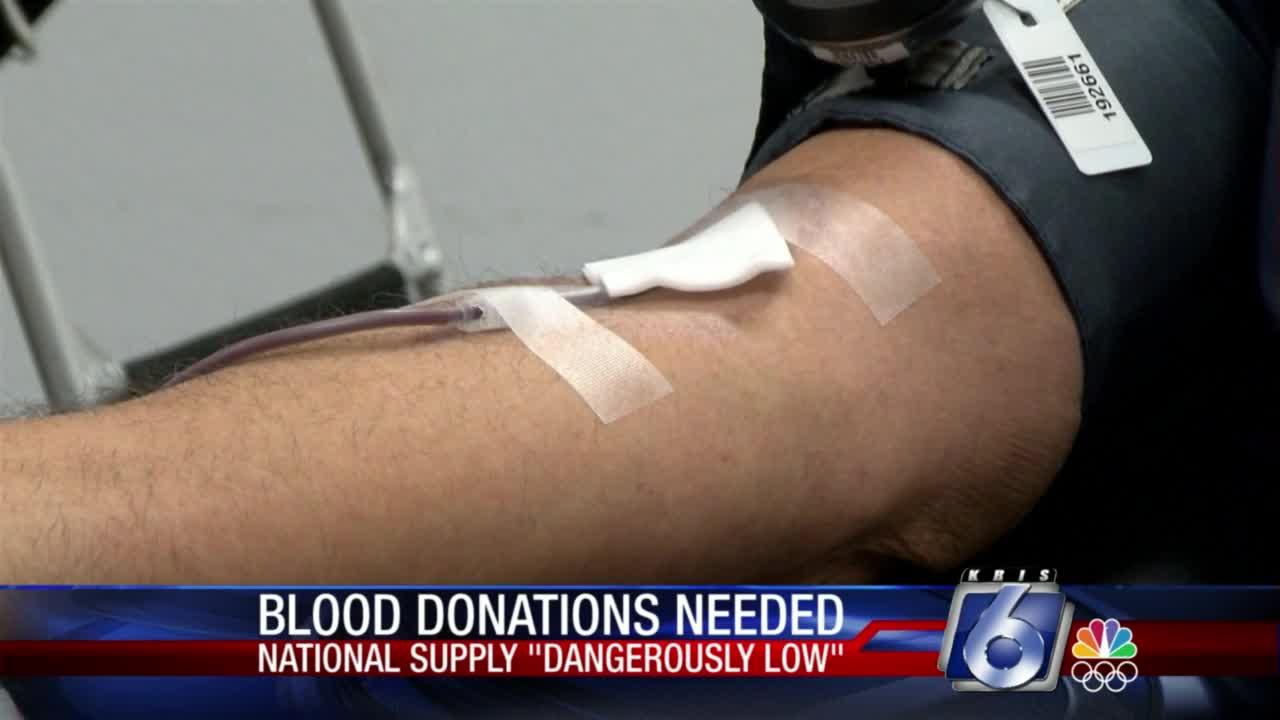 National blood centers facing 'dangerously low' shortages