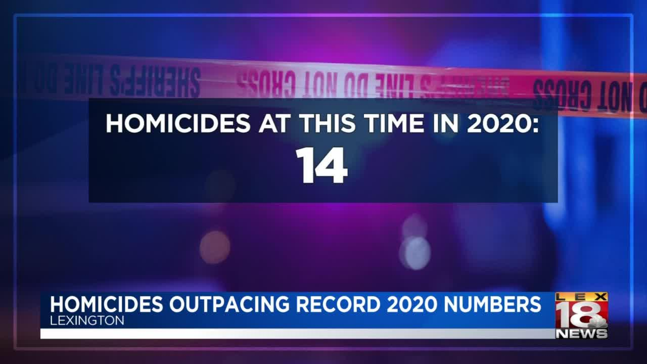 Lexington homicides outpacing 2020 record numbers