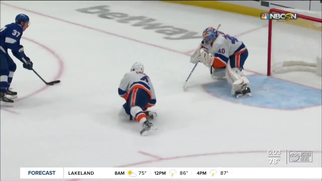 Stamkos, Vasilevskiy pace Lightning's 8-0 rout of Islanders