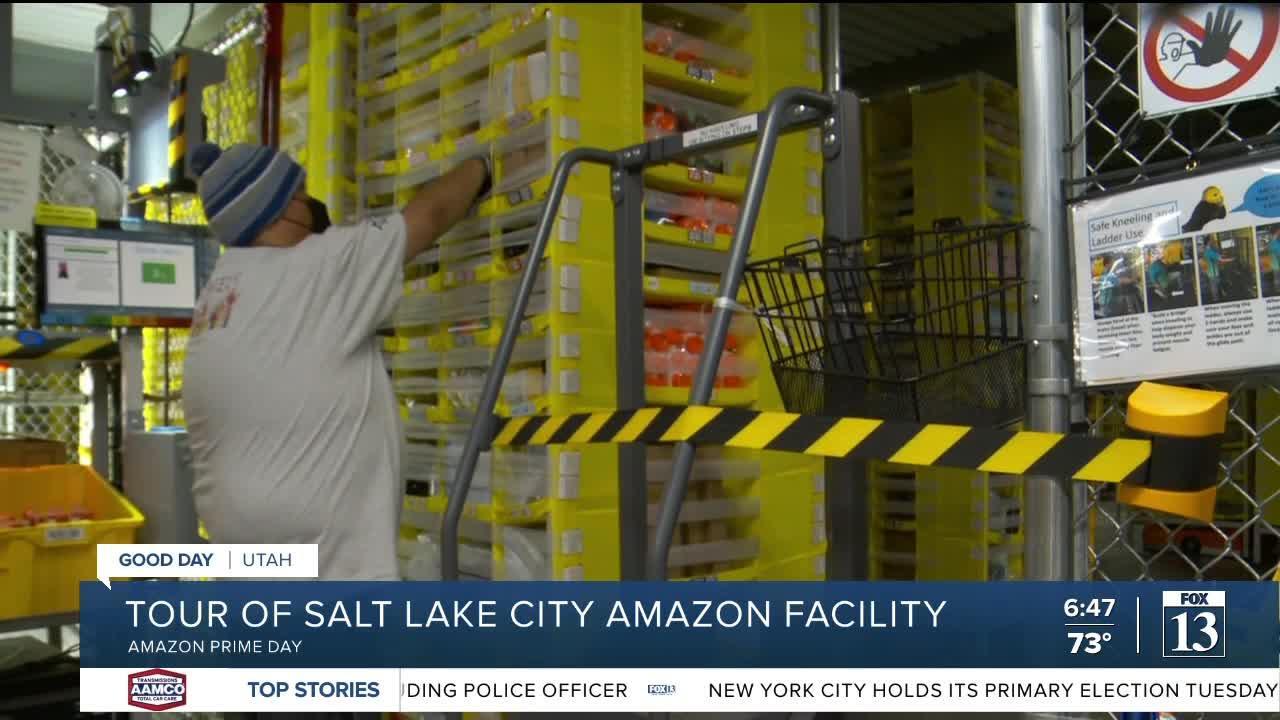 Tour of SLC's Amazon distribution center