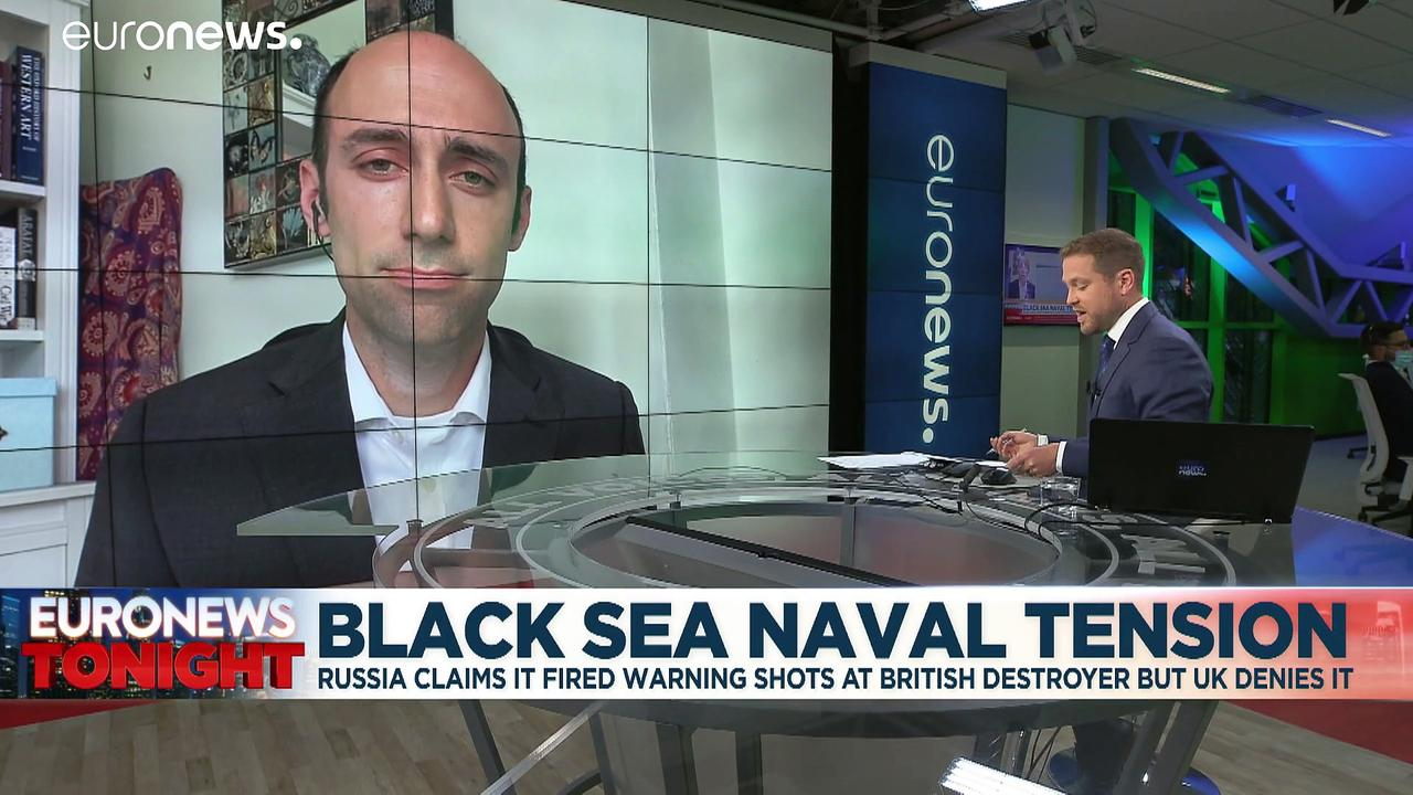 Britain denies Russia fired warning shots at Navy ship near Crimea