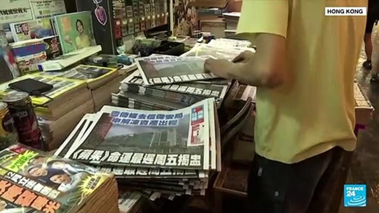Hong Kong pro-democracy paper Apple Daily prints final run