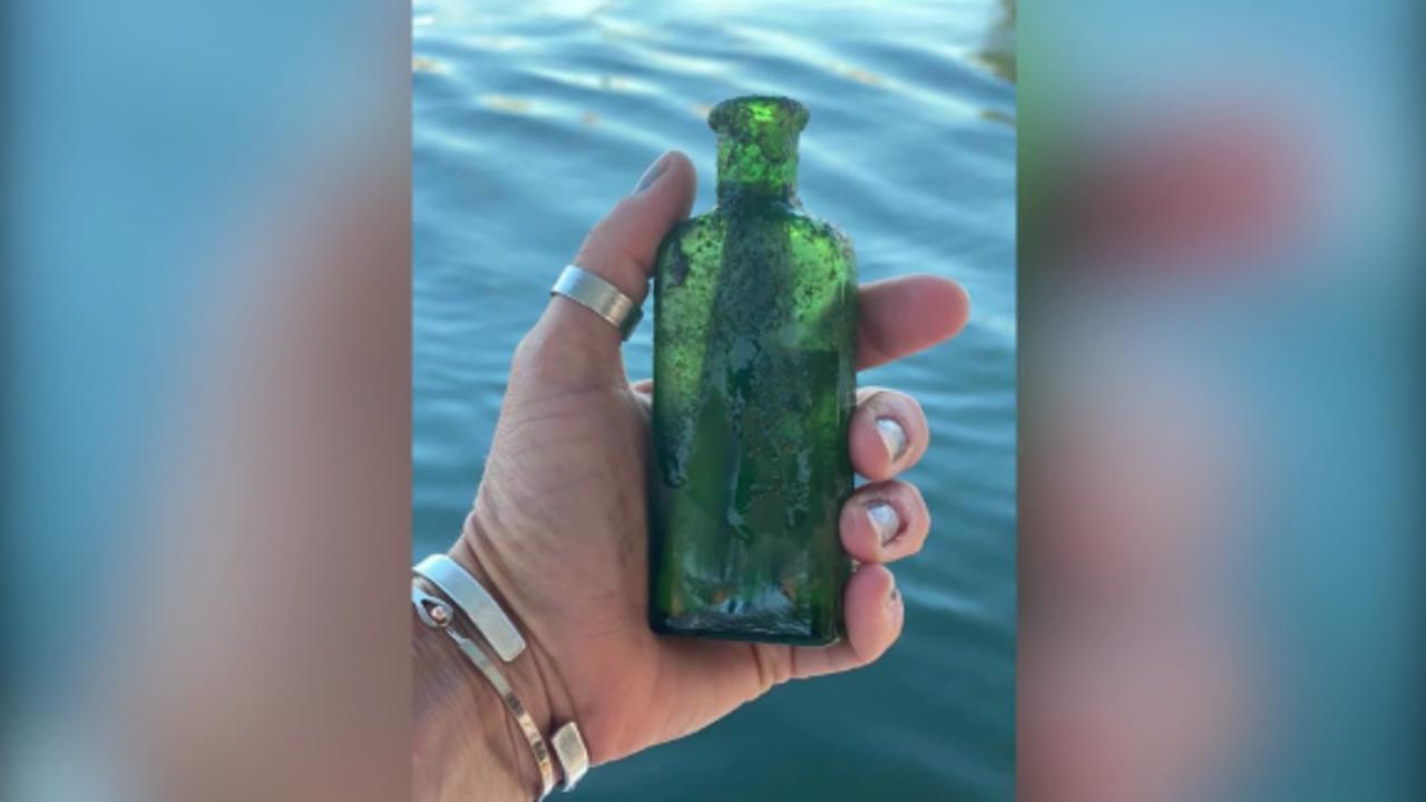 Woman finds 95-year-old message in a bottle