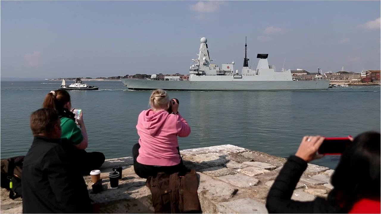Russian warship fires shots at Royal Navy destroyer HMS Defender in Black Sea encounter