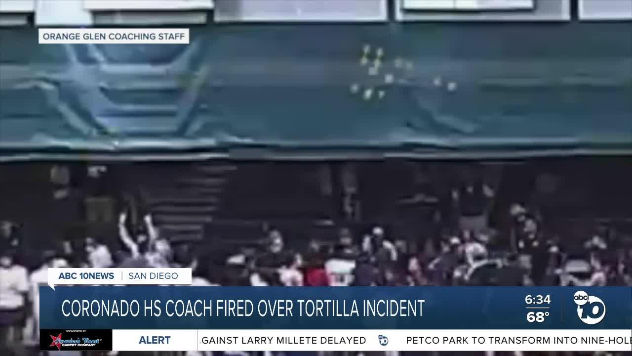 Basketball coach fired in aftermath of tortilla throwing incident