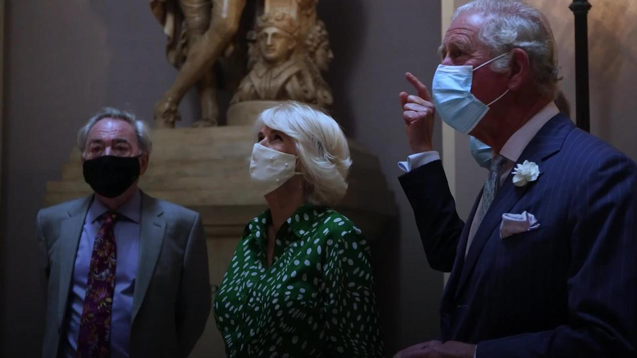 Charles and Camilla meet West End royalty