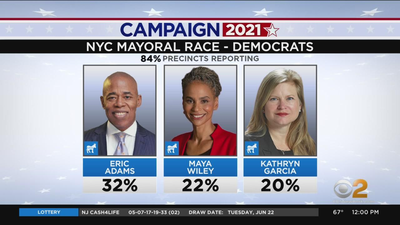 NYC Primary: Adams Leads As Ranked Choice Votes Yet To Be Tallied