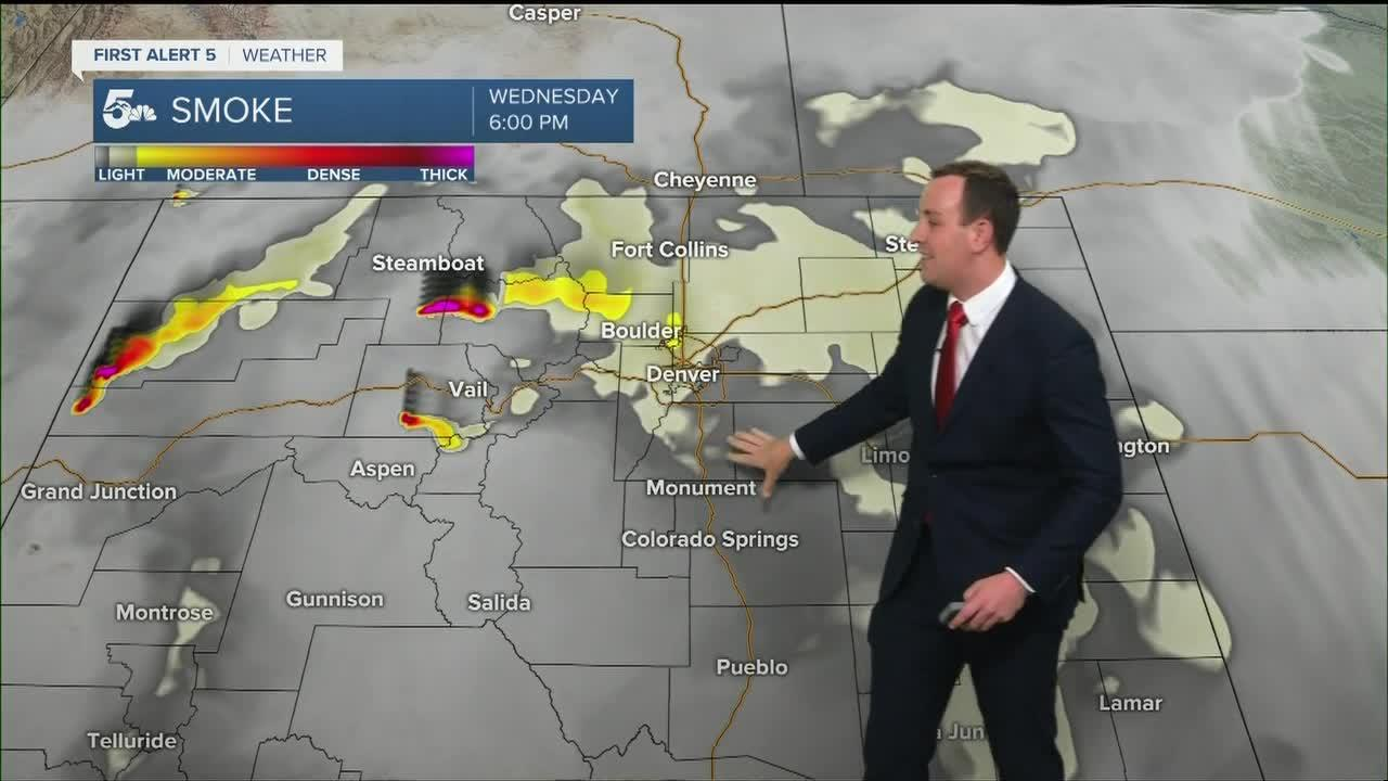 Hottest day of the week with more smoke and gusty winds