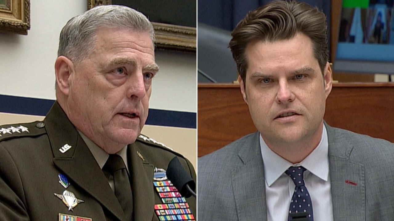 General's response to Gaetz's question leaves him shaking his head