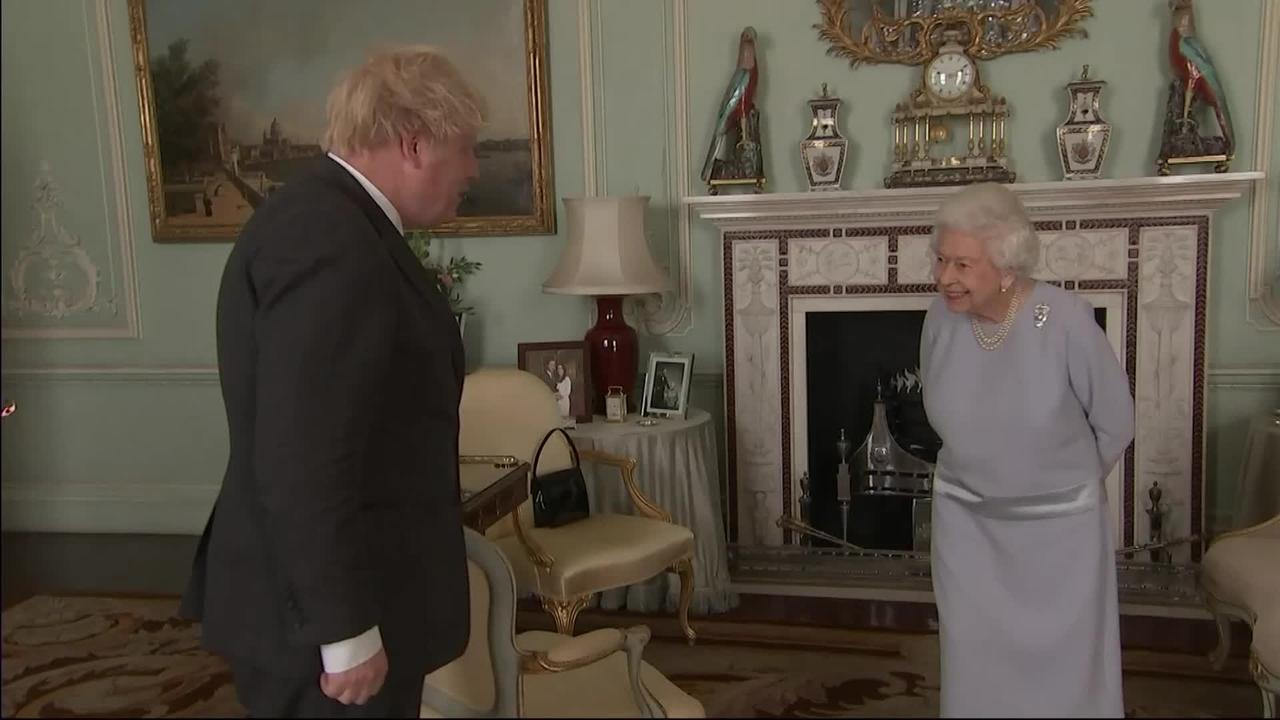 Queen calls Hancock 'poor man' in first in-person audience with PM for 15 months