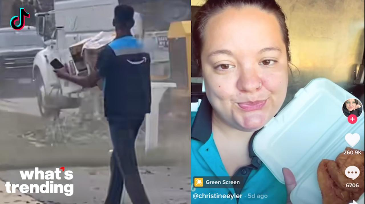 Amazon Driver's Tornado Delivery Captured On Camera Plus Juneteenth Fails