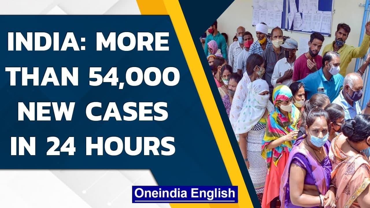 Covid-19: India records 54,069 new infections and 1,321 deaths| Oneindia News