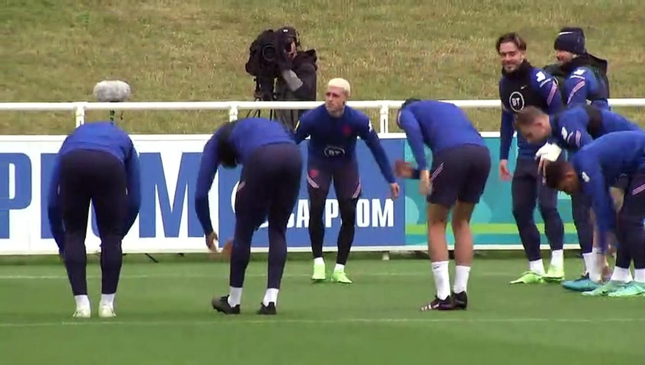 England football players train at St George's Park