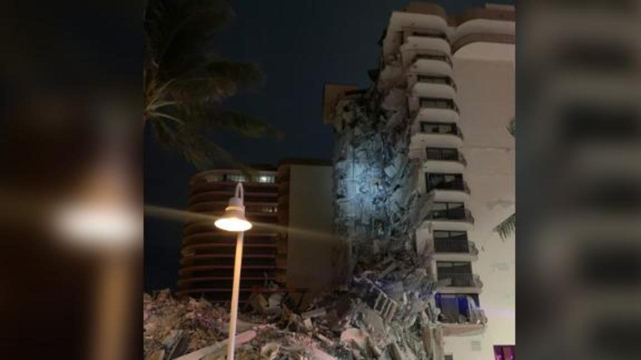 Rescuers respond to partial building collapse near Miami Beach