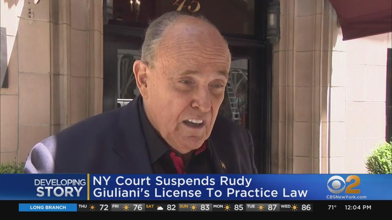 Rudy Giuliani's Law License Suspended