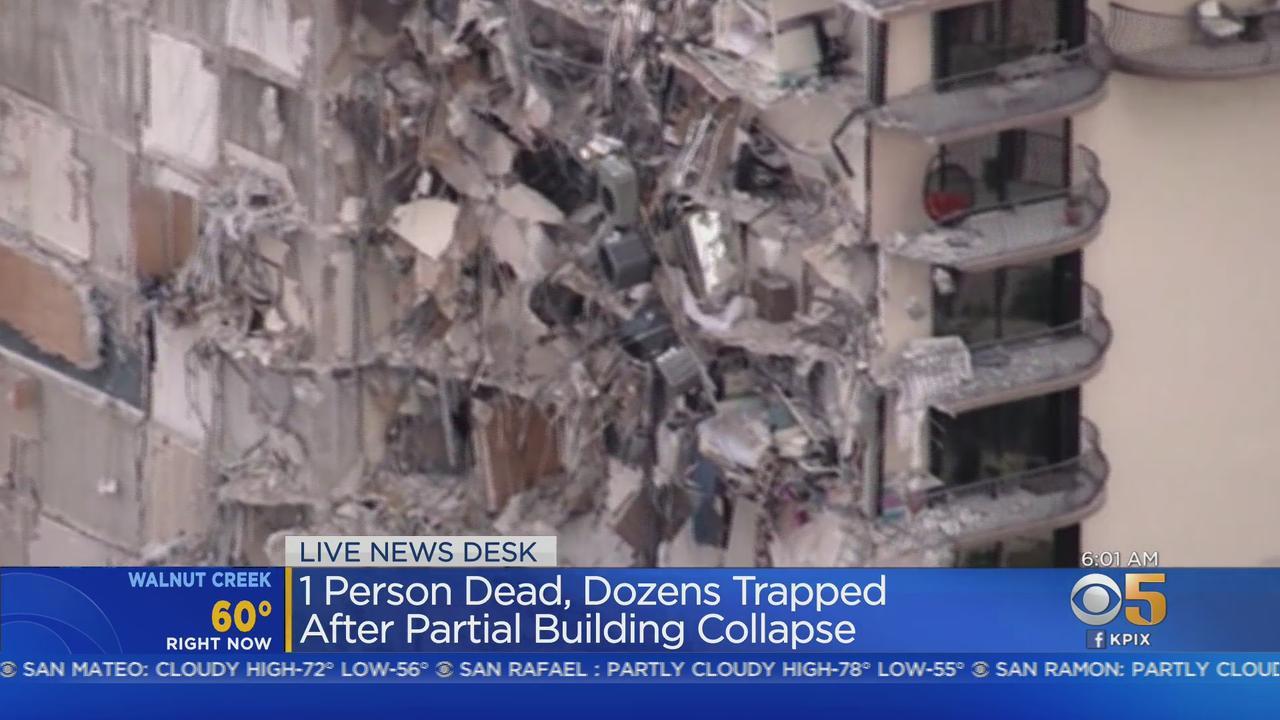 Miami-Area Condo Partially Collapses; At Least 1 Dead, Dozens Unaccounted For