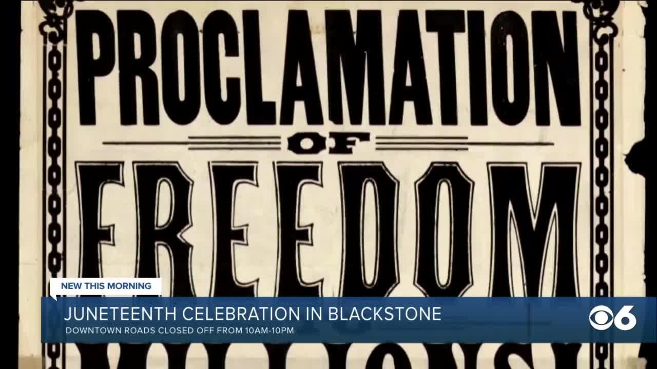 Juneteenth celebration in Blackstone