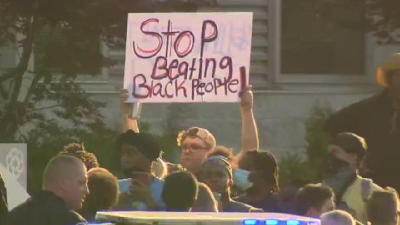 Protests erupt after video shows Black man punched during arrest