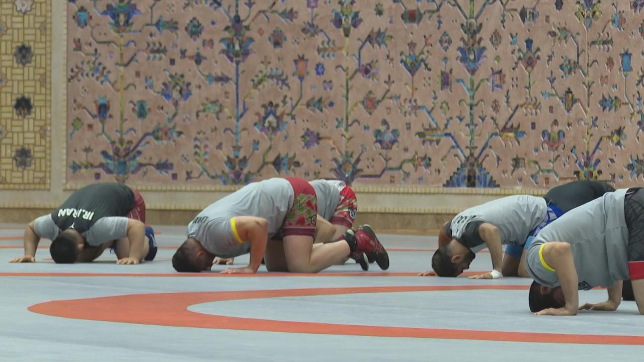 Iran's wrestling team prepares for Tokyo Olympics