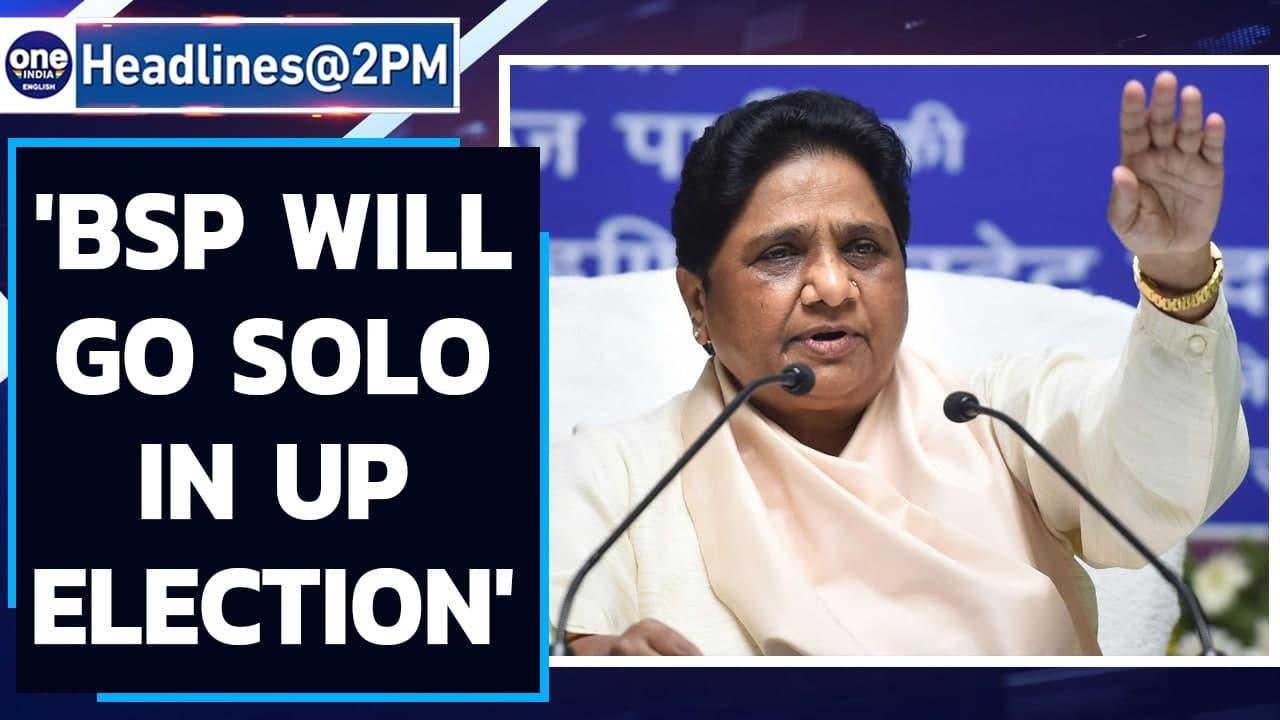 BSP to go solo in UP & Uttarakhand state polls; Mayawati says no tie-up with AIMIM   Oneindia News