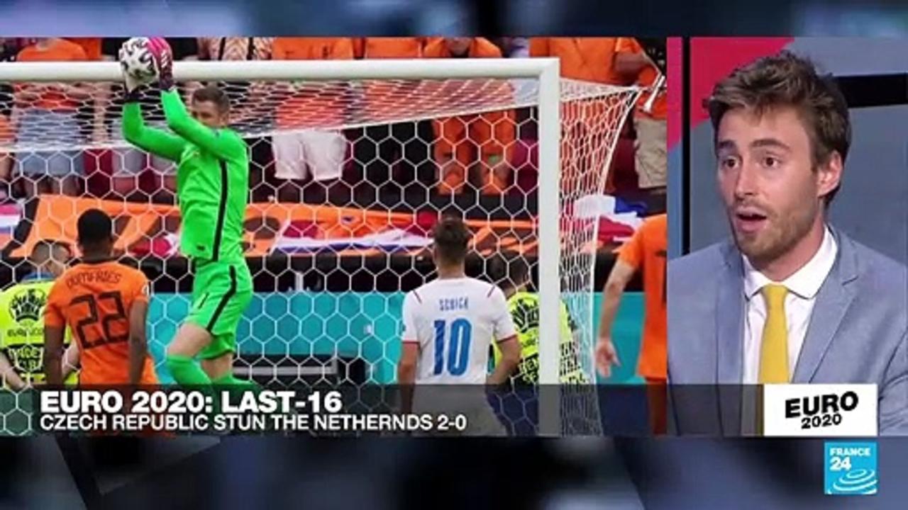 Czechs upset 10-man Netherlands to reach Euro 2021 quarter-finals