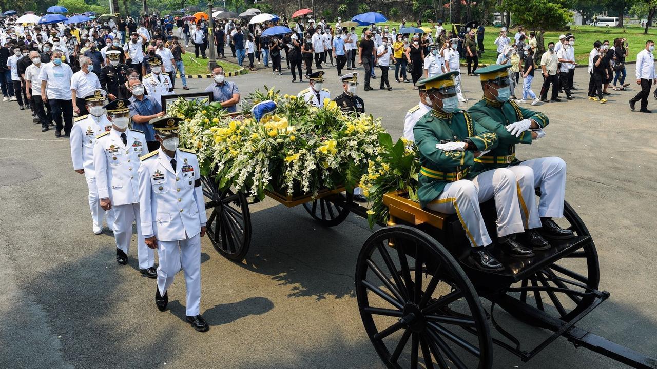 Former Philippine President Benigno Aquino buried in Manila