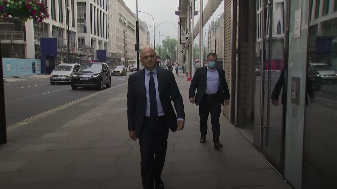 Sajid Javid pays tribute to Matt Hancock as he gets to work as new Health Secretary