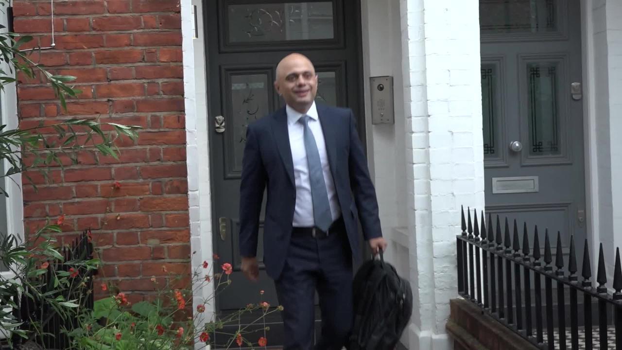 New Health Secretary Sajid Javid sets off for work
