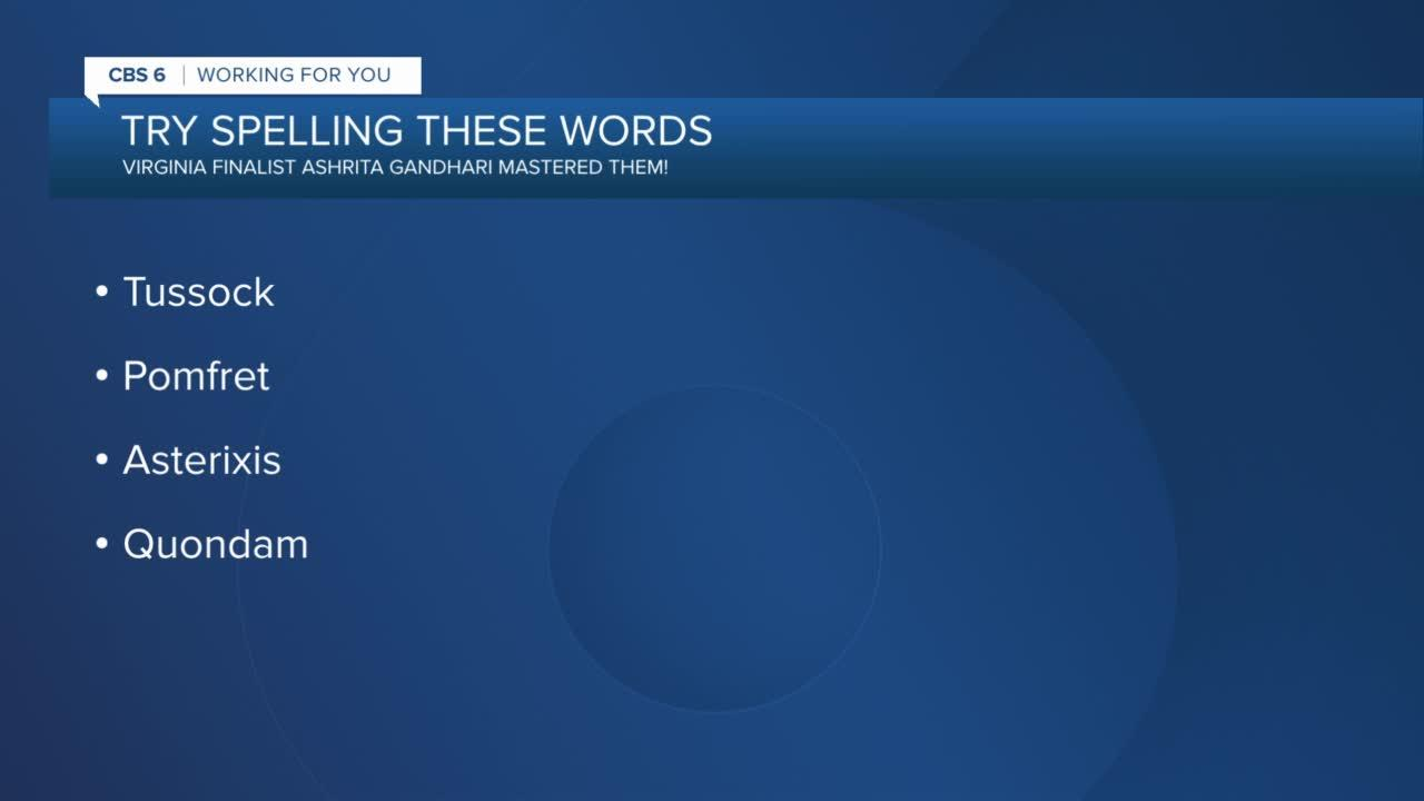 Virginia speller makes final round of Scripps National Spelling Bee