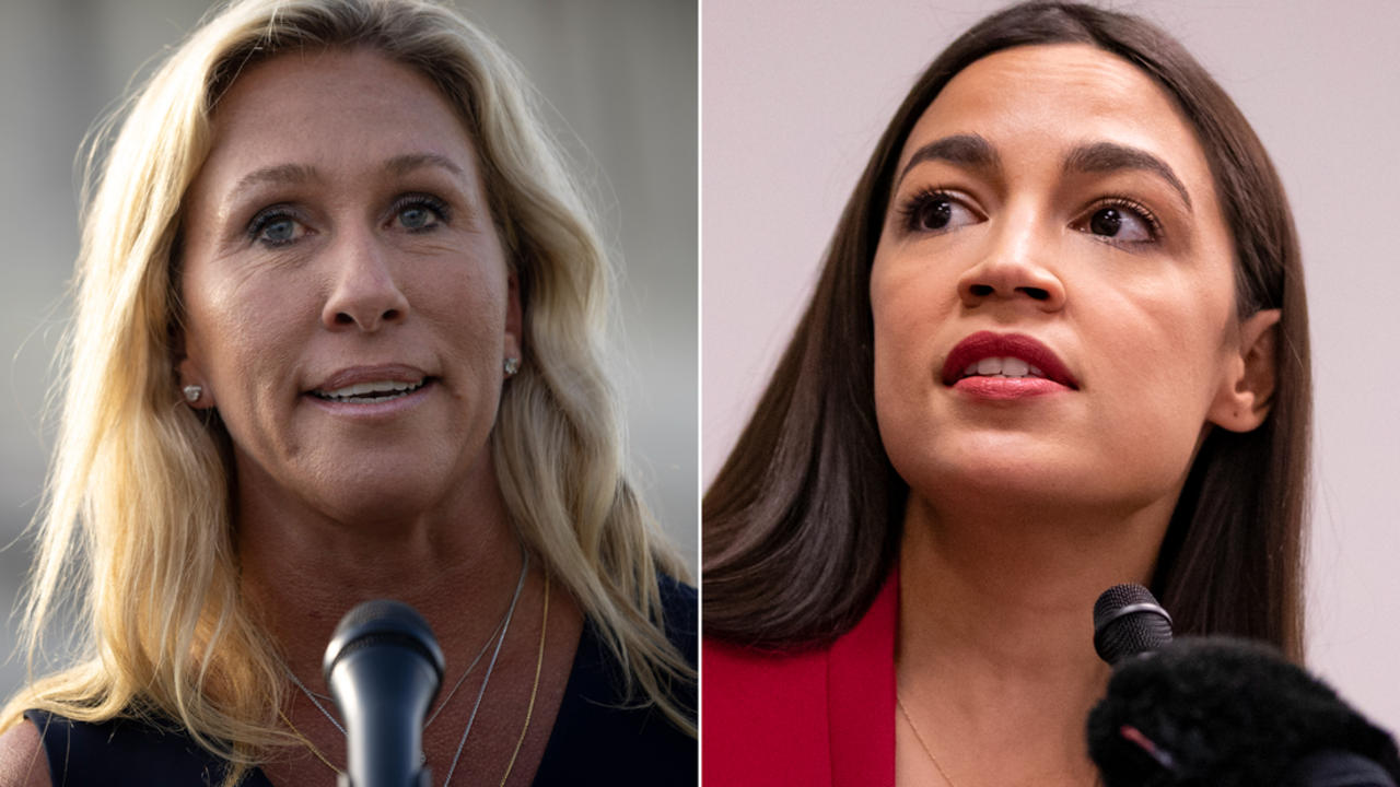 See Ocasio-Cortez's two-word response to Taylor Greene's insult