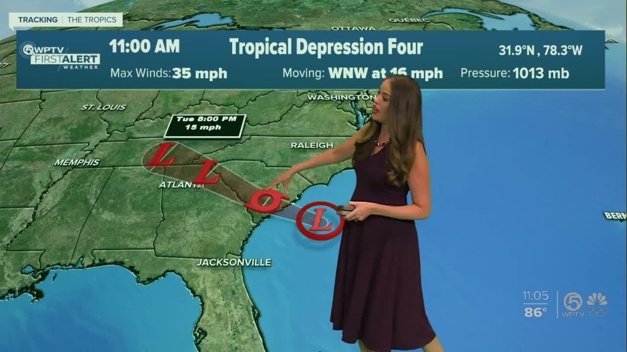 Tropical depression forms off South Carolina coast, could become Tropical Storm Danny