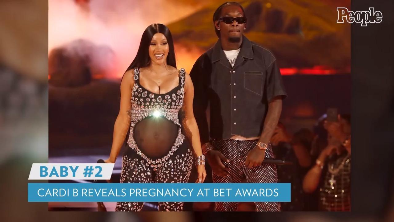 Cardi B Is Pregnant! Rapper Reveals She's Expecting Second Child During BET Awards Performance