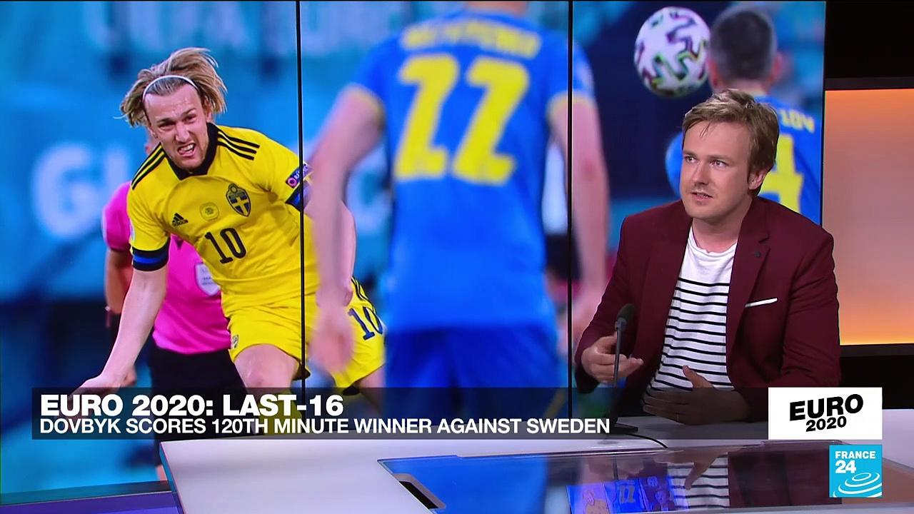 Ukraine beat Sweden 2-1 in extra time to reach Euro 2021 quarter-finals