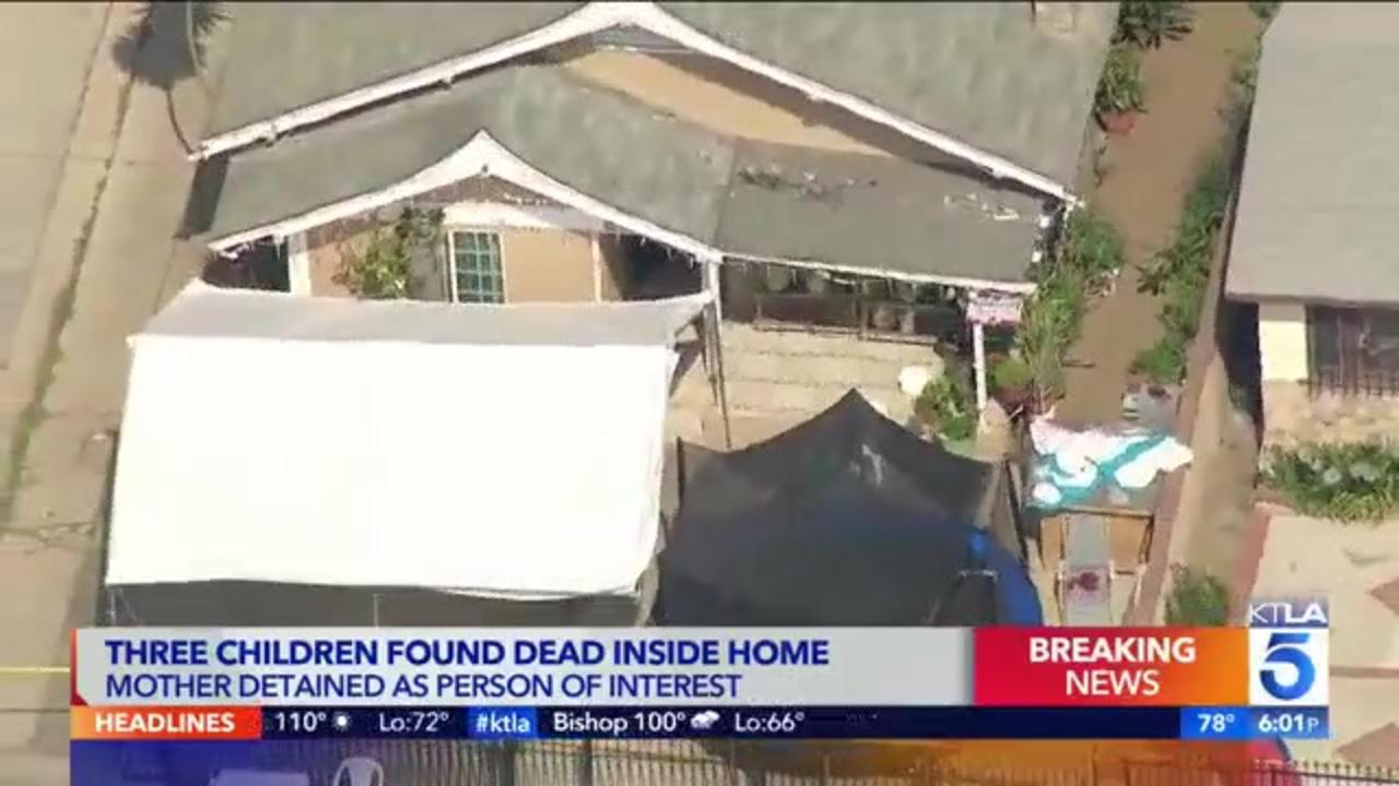 Mother detained for questioning after 3 young children found dead in East L.A. home