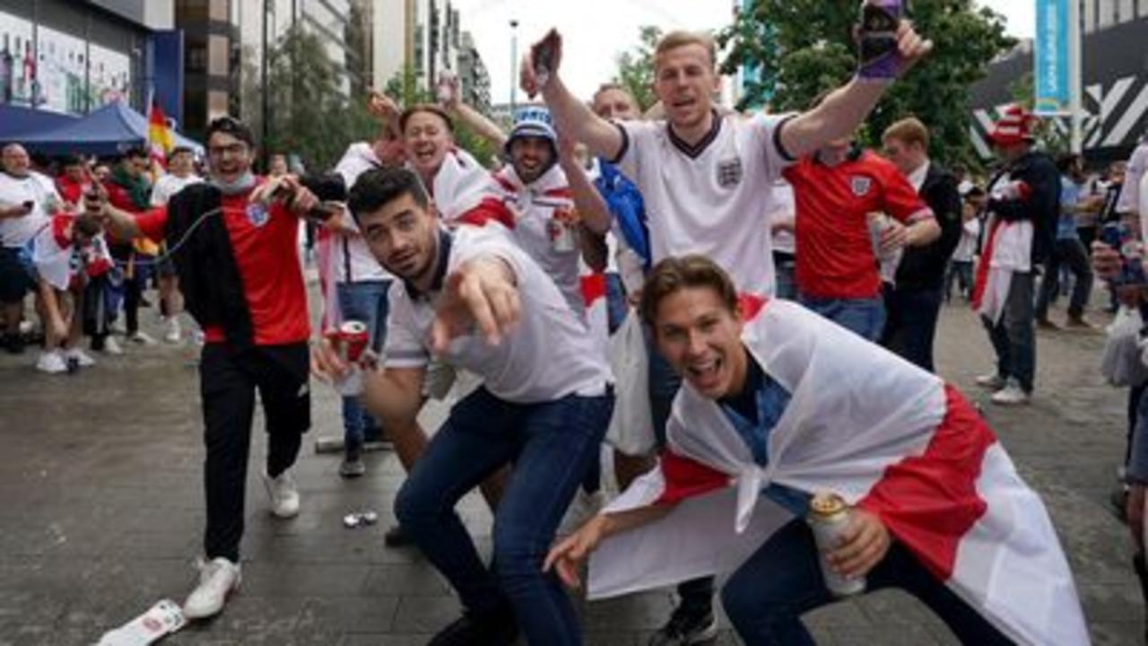 Fans arrive at Wembley for Germany game