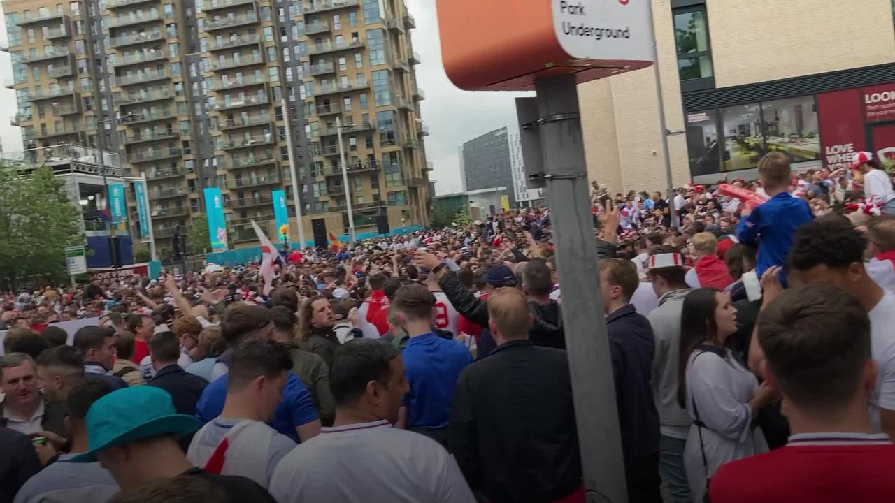 Party atmosphere at Wembley ahead of England-Germany tie