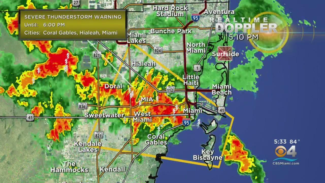 Severe Thunderstorm Warning For Northern Miami-Dade County
