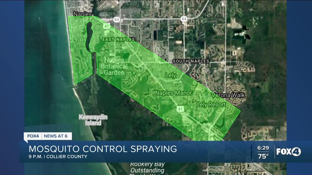 Mosquito spraying in Collier Co. Tuesday night