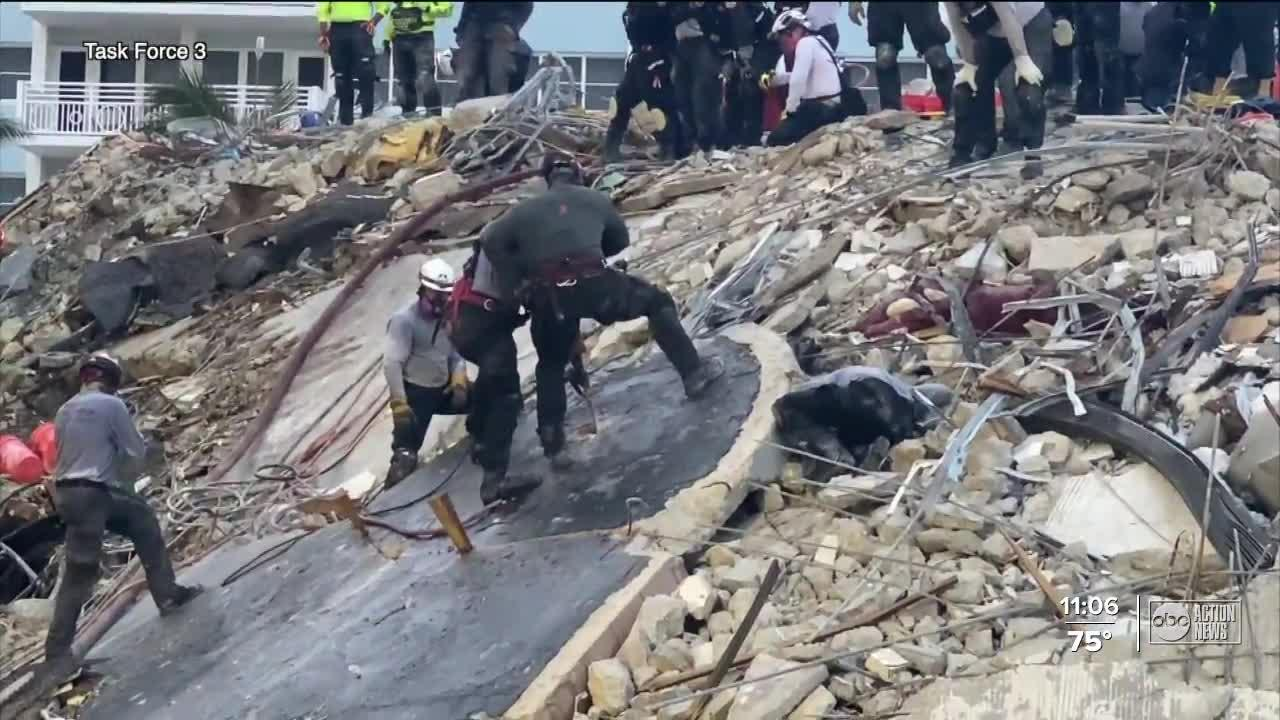 Death toll rises to 12; 149 people still unaccounted for in Surfside condo collapse