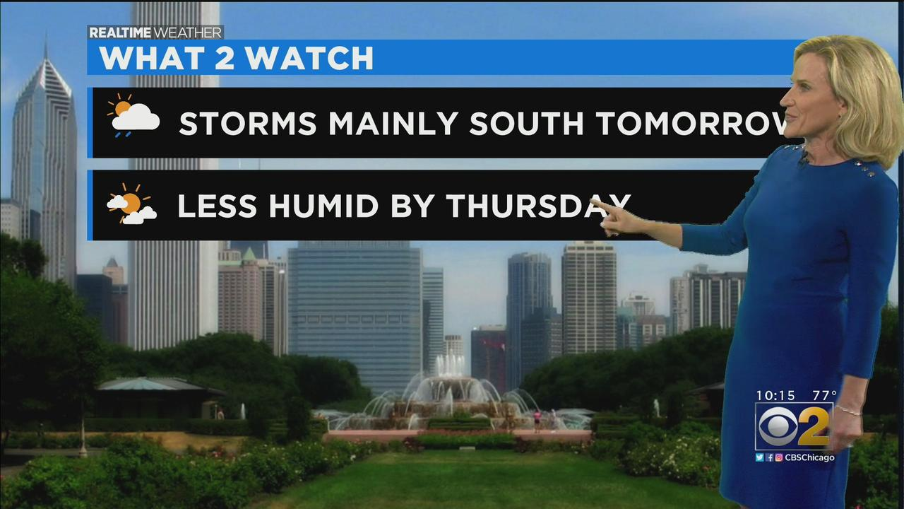Chicago Weather: Storms Mainly South On Wednesday