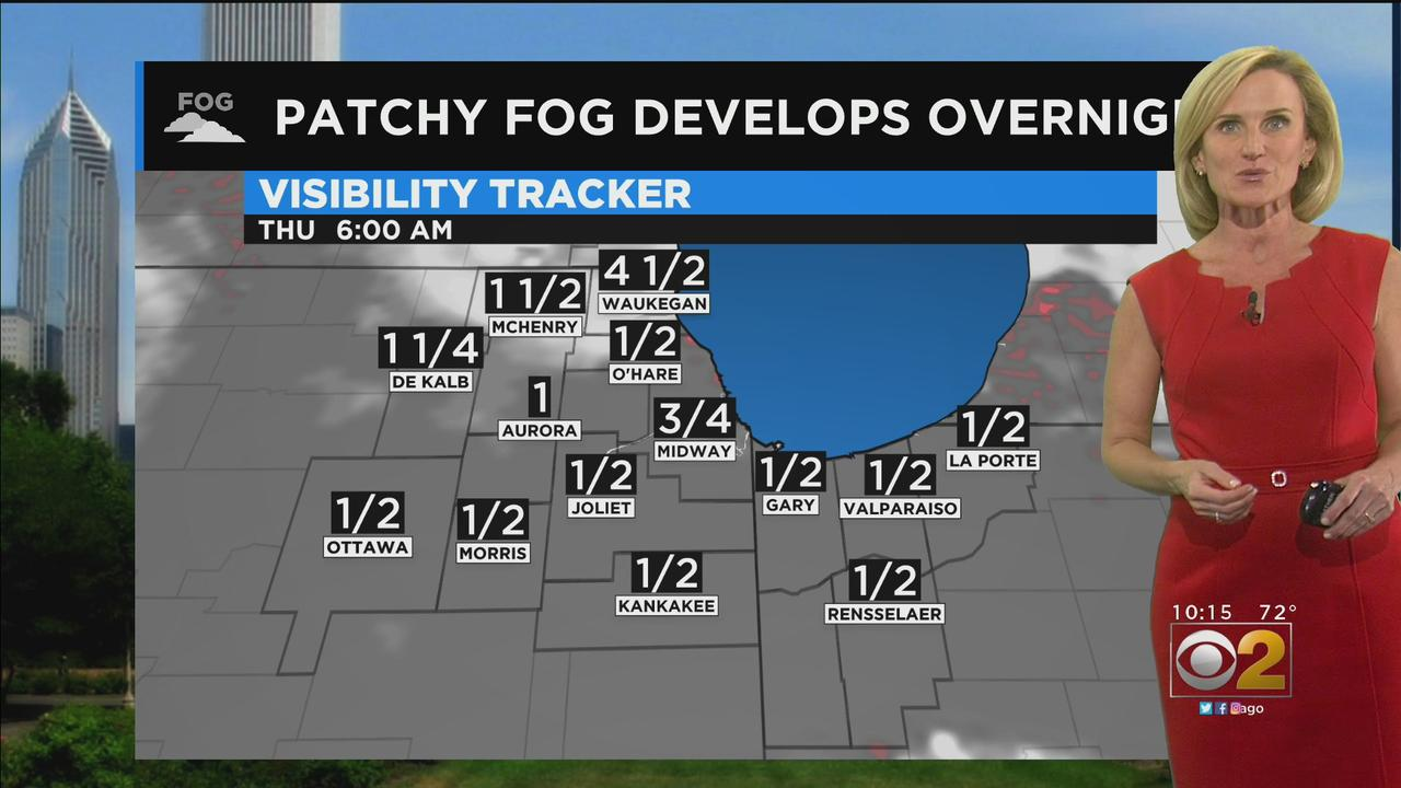 Chicago Weather: Patchy Fog Develops Overnight