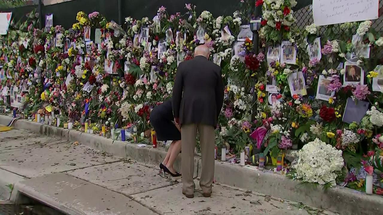 WATCH: President Biden, First Lady Visit Surfside Memorial To Pay Respects