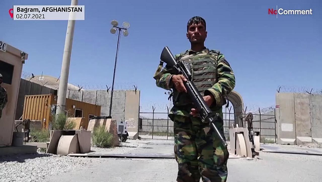 Afghan forces guarding Bagram after US troops leave base