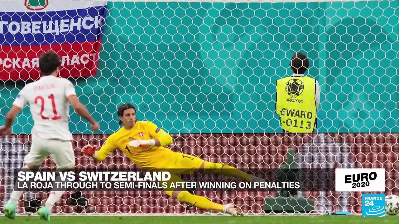 Spain beat Switzerland on penalties to reach Euro 2021 semi-finals