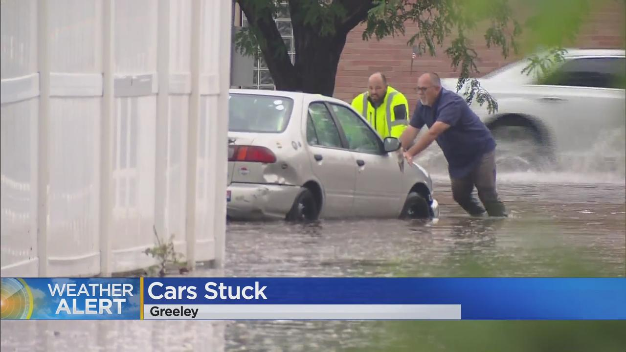 Street Flooding Strands Cars In Greeley