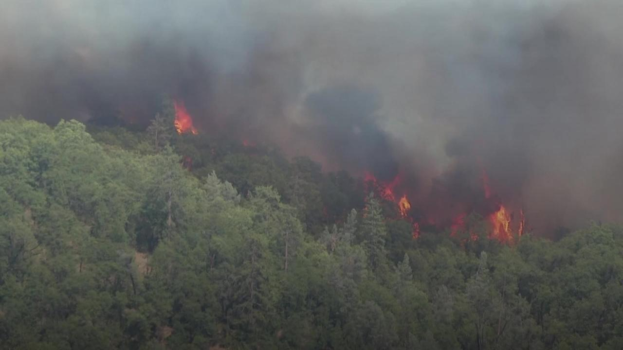 Wildfires hit northern California as temperatures pass 100F