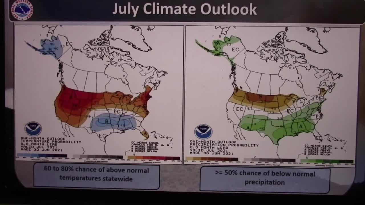 Historic June for temperature and precipitation